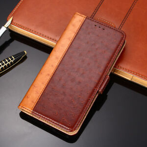 Luxury Ostrich Leather case with Stand fashion hit color Flip cover For Motorola