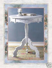 NEW! SHABBY AGED CHIC WHITE WOOD END,SIDE TABLE,NIGHT STAND,FURNITURE $180.