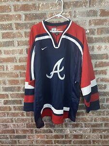 Atlanta Braves Nike Sewn MLB Baseball Hockey Jersey Size XL