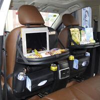 Car Seat Back Leather Multi-Pocket Storage Bag Black Organizer Holder Accessory