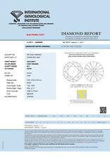 DIAMANT 0.58ct Brillant SI2 Light Orange IGI