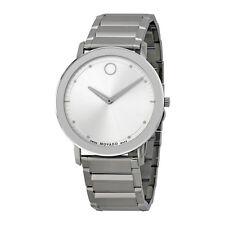 Movado Sapphire Steel Bracelet Mens Watch 0606881