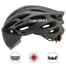 MTB Bike Helmet Mountain Road Bicycle Helmet w/ Lens & Brim Taillight US