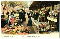CPA 06 Alpes-Maritimes Cannes Marché aux Fleurs animé