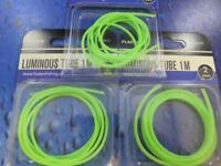 3 FLADEN LUMINOUS GREEN LUMI RIG TUBE TUBING FOR SEA BOAT PIER FISHING 137921