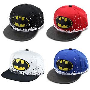 Kids Batman Baseball Cap Hip Hop Snapback Boy Girls Adjustable Sun Hats Outdoor