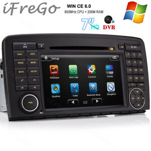 "7"" Navigation Autoradio GPS DVD 2DIN Karte Für Benz R Klasse W251 R500 R350 R300"