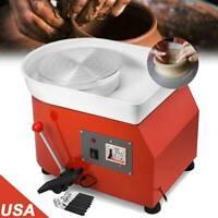 [2020] 110V Electric Pottery Wheel Ceramic Machine 25CM Work Clay Art Craft DIY