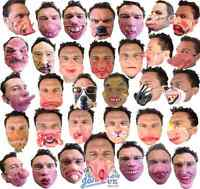 Half Face Comedy Funny People Face Mask Stag Fancy Latex Party Masks Masquerade