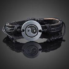 Wrap Leather Yin Yang Infinity Bracelet Men Womens Multilayers Chain Jewelry