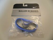 Nike Baller ID Bands Wristbands Bracelets New In Package Blue Blue Blue