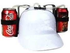 White Beer Helmet Drinking Helmet Hat Cap Game Drink Can Holder Soda Hen Stag Do