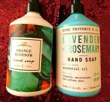 2 Set Home & Body Co Orange Blossom & Lavender Rosemary Hand Soap  21.5 oz EACH