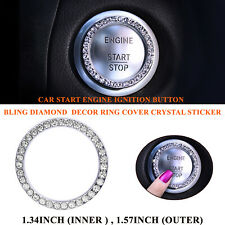 1XCar Engine Start/Stop Push Button Switch Decor Bling Ring Trim Crystal Sticker
