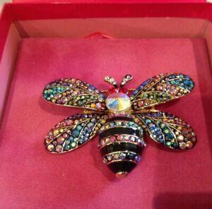 Butler & Wilson Multi Crystal Bee Brooch Large