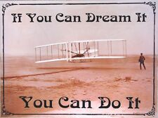 "RETRO STYLE CONFIDENCE METAL SIGN   "" IF YOU CAN DREAM IT ""  "" YOU CAN DO IT """