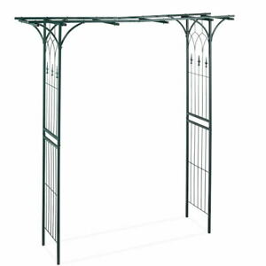Outdoor Metal Arch Garden Gazebo Patio Pergola Wedding Archway Plant Rose Arches