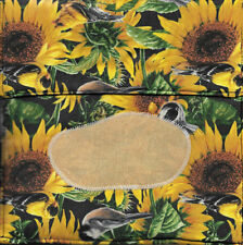 MICROWAVE BAKED POTATO BAG IN SUNFLOWER FABRIC PRINT - HAND CRAFTED