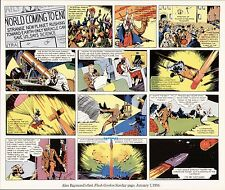 Alex Raymond Flash Gordon 1St Sunday Page (1934) Art Print Original Lithograph