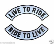 Live to Ride Large Rocker Back Patch Big Block Letters Motorcycle Biker 1A