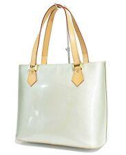 Authentic LOUIS VUITTON Houston Silver Vernis Leather Tote Bag Purse #36132