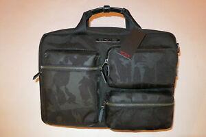 Tumi Dalston Tyssen Double Zip Brief Black Camo $325