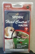 Sporn Adjustable Head Control Halter / Collar For Tough Pulling Dogs Size Large