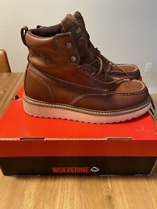 "Wolverine Work Wedge Honey W08289 Steel 6"" Moc-Toe Safety Boot"