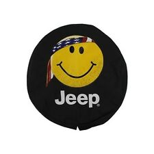 Jeep Genuine Accessories 82212306 Cloth Spare Tire Cover with Smiley Face Logo