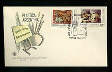 Postal History FDC #1056-1057 Argentina , Hand Painted Modern Art theme 1974