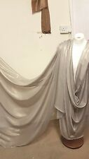 "1M NEW GREY  / GOLD SHIMMER  DRESS CHIFFON FABRIC 58"" WIDE"