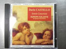 DARIO CASTELLO Sonate Concertate- Europa Galante - CD