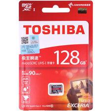 4K FHD 128GB Toshiba Exceria M302 90MB/S Class10 Microsdxc Tf Sd Memory Card