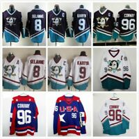 Men's Mighty Ducks Ice Hockey Jersey #8 SELANNE #9 Paul Kariya #96 Conway USA