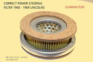 1960-1969 Lincoln/Mark III Power Steering Pump Reservoir Filter Kit NEW-CORRECT!