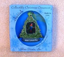 Pet Christmas Ornament Swarovski Crystals and Glitter Gloria Duchen NEW Gift