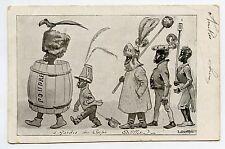 R. de la Nézière . GARDES DU CORPS.ARTILLERIE. AFRICAINS . AFRICANS .Caricature