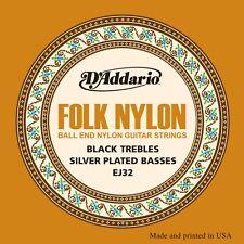 D'addario ej32 MUSICA FOLK/le corde per chitarra classica-fine vibrazioni Nero Ball
