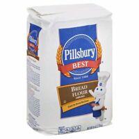 PILLSBURY BREAD FLOUR Enriched, 5 lbs Great for Bread Machine