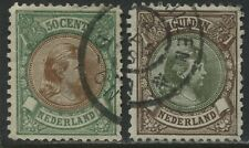 Netherlands 1896 50 cents and 1 guilder used