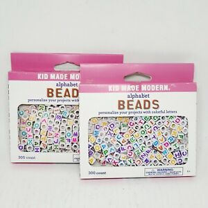 Set Of 2 Kid Made Modern 300ct Alphabet Beads