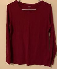 Womens Long Sleeve Shirt. Burgundy. Size XL