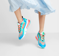 NEW Nike Air Max 270 React Size Womens Trainers Blue Green White Red Sneakers