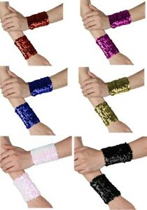 Sequins Colour Changing Bracelets Mermaid Dream Wrist Cosplay Stretchy Cuffs