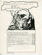 Early 1970s Russ Cochran Ad Flyer #1: EC Comics Portfolios, Frazetta +