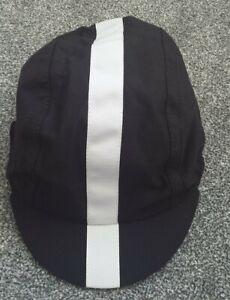 RAPHA BLACK WHITE LINE CYCLING QUALITY SUMMER CAP, new, SIZE Medium