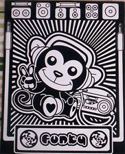 Lisa FRANK Velvet Funky Monkey FOLDER Never Used Color w/ Markers