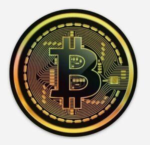Bitcoin Logo - HOLOGRAPHIC Vinyl Sticker Crypto Cryptocurrency BTC Decal wow