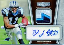 2012 Topps Unrivaled Brandon LaFell #UAP-BL 3 Color Autograph Patch /349