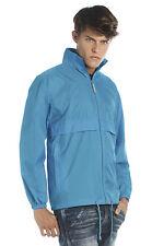 B&C BA601 Men's Sirocco Waterproof Windproof Jacket Rain Coat S-3XL